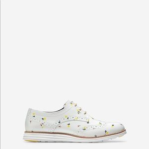 Cole Haan Wingtip Oxford in White Floral